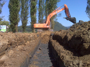 True Green Geothermal - horizontal loop installation